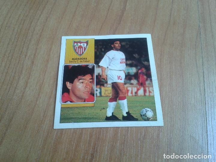 MARADONA -- SEVILLA -- COLOCA -- 92/93 -- ESTE -- RECUPERADO (Coleccionismo Deportivo - Álbumes y Cromos de Deportes - Cromos de Fútbol)