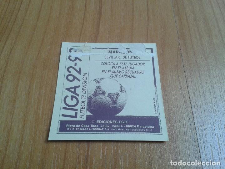 Cromos de Fútbol: Maradona -- Sevilla -- Coloca -- 92/93 -- Este -- Recuperado - Foto 2 - 132481402