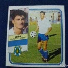 Cromos de Fútbol: 89/90 ESTE. NUNCA PEGADO BAJA TENERIFE LEMA NUEVO MUY DIFÍCIL. Lote 132701198