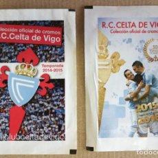 Cromos de Fútbol: SOBRES VACÍOS DE CROMOS DOS 14-15 15-16 R C CELTA DE VIGO. FARO DE VIGO. Lote 155715768