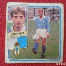 Cromos de Fútbol: CROMO DE FÚTBOL TEMPORADA 89 90 1989 1990 EDICIONES ESTE LÓPEZ LÓPEZ REAL OVIEDO BAJA NUNCA PEGADO . Lote 132866498