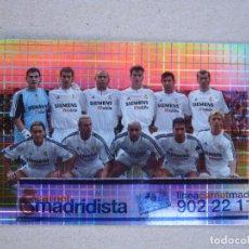 Cromos de Fútbol: FICHAS LIGA 2004 EQUIPO PLANTILLA Nº 694 ALINEACION REAL MADRID 03-04 MUNDICROMO 2003-2004 NUEVO. Lote 282249508