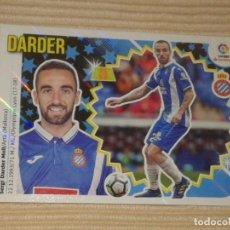 Cromos de Fútbol: CROMO Nº 10 DARDER (ERROR PESO, TALLA) (R.C.D. ESPANYOL) LIGA 18-19 (2018 2019) ÁLBUM ESTE. Lote 135276787