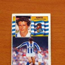 Cromos de Fútbol - Real Sociedad - Fuentes - Liga 1990-1991, 90-91 - Ediciones Este - Nunca pegado - 133622466