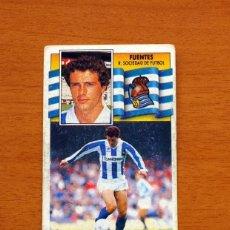 Cromos de Fútbol - Real Sociedad - Fuentes - Liga 1990-1991, 90-91 - Ediciones Este - Nunca pegado - 133622498