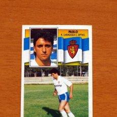 Fußball-Sticker - Zaragoza - Pablo - Liga 1990-1991, 90-91 - Ediciones Este - 133699566