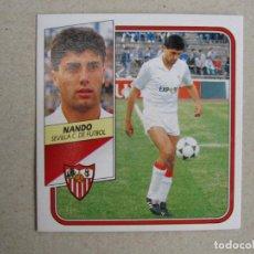 Cromos de Fútbol: ESTE 89 90 NANDO SEVILLA 1989 1990 NUEVO. Lote 133971050