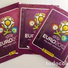 Cromos de Fútbol: LOTE DE 3 SOBRES COLECCION CROMOS - EURO2012 - SIN ABRIR - PANINI -. Lote 134022494