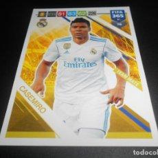 Cromos de Fútbol: 76 CASEMIRO REAL MADRID CARD CROMOS ADRENALYN XL FIFA 365 2018 2019 18 19. Lote 137292365