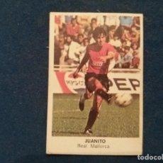 Cromos de Fútbol: FUTBOL 84 CROMOS CANO CROPAN MALLORCA JUANITO CASI COMO NUNCA PEGADO. Lote 83394644