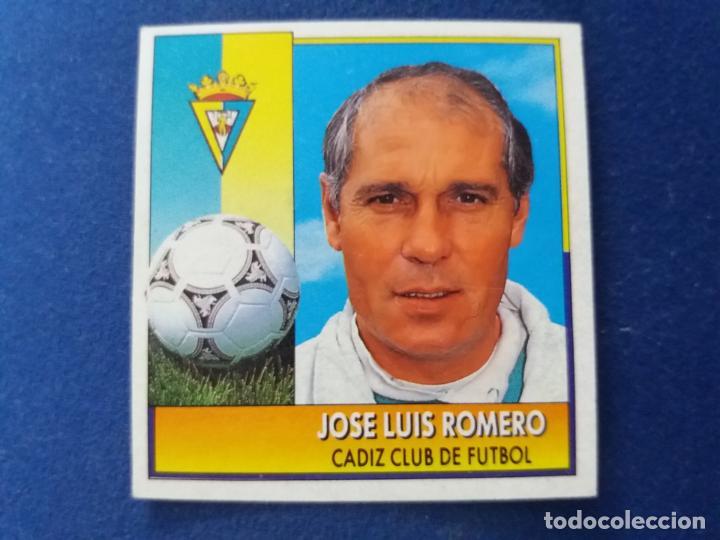 92/93 ESTE. COLOCA CÁDIZ JOSÉ LUIS ROMERO COMO NUNCA PEGADO. LEER (Coleccionismo Deportivo - Álbumes y Cromos de Deportes - Cromos de Fútbol)