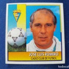 Cromos de Fútbol: 92/93 ESTE. COLOCA CÁDIZ JOSÉ LUIS ROMERO COMO NUNCA PEGADO. LEER. Lote 134899222