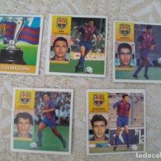 Cromos de Fútbol: 92/93 ESTE. BARCELONA LOTE 5 CROMOS SALINAS SERNA ESCUDO BEGIRISTAIN GUARDIOLA NUNCA PEGADO . LEER. Lote 134906762