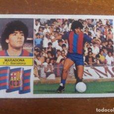 Cromos de Fútbol: CROMO ESTE 82.83. MARADONA -U.F. 6- (F.C. BARCELONA). MUY DIFICIL. DESPEGADO. Lote 135310342