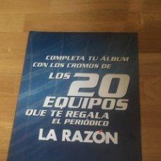 Cromos de Fútbol: LA RAZÓN ALINEACIONES 2003 2004 03 04 LIGA ESTE HOJAS. Lote 135522453