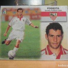 Cromos de Fútbol: EDICIONES ESTE 1999-2000 99 00 FICHAJE Nº 34 PODESTA (SEVILLA) RECORTADO LEER. Lote 135603230