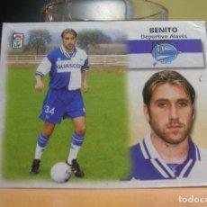Cromos de Fútbol: EDICIONES ESTE 1999-2000 99 00 FICHAJE Nº 32 BENITO (ALAVES) RECORTADO LEER. Lote 135603550