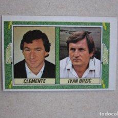 Cromos de Futebol: ESTE 84 85 ENTRENADORES CLEMENTE / BRZIC ATHLETIC BILBAO / OSASUNA 1984 1985 NUNCA PEGADO. Lote 240118720