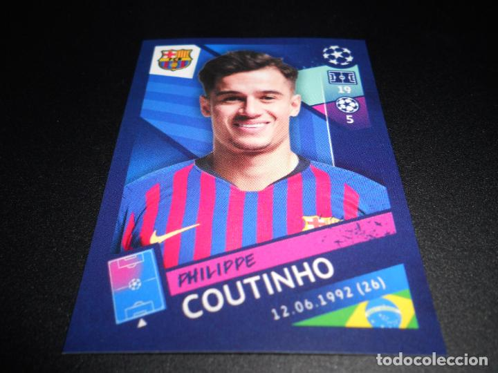 Cromos de Fútbol: 18 PHILIPPE COUTINHO FC BARCELONA CROMOS STICKERS UEFA CHAMPIONS LEAGUE TOPPS 18 19 2018 2019 - Foto 1 - 148150918