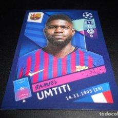Cromos de Fútbol: 10 SAMUEL UMTITI FC BARCELONA CROMOS STICKERS UEFA CHAMPIONS LEAGUE TOPPS 18 19 2018 2019. Lote 162367084
