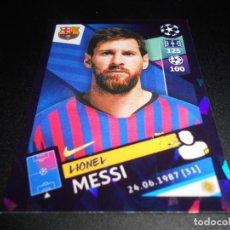 Cromos de Fútbol: 5 LIONEL MESSI FC BARCELONA CROMOS STICKERS UEFA CHAMPIONS LEAGUE TOPPS 18 19 2018 2019. Lote 178675235