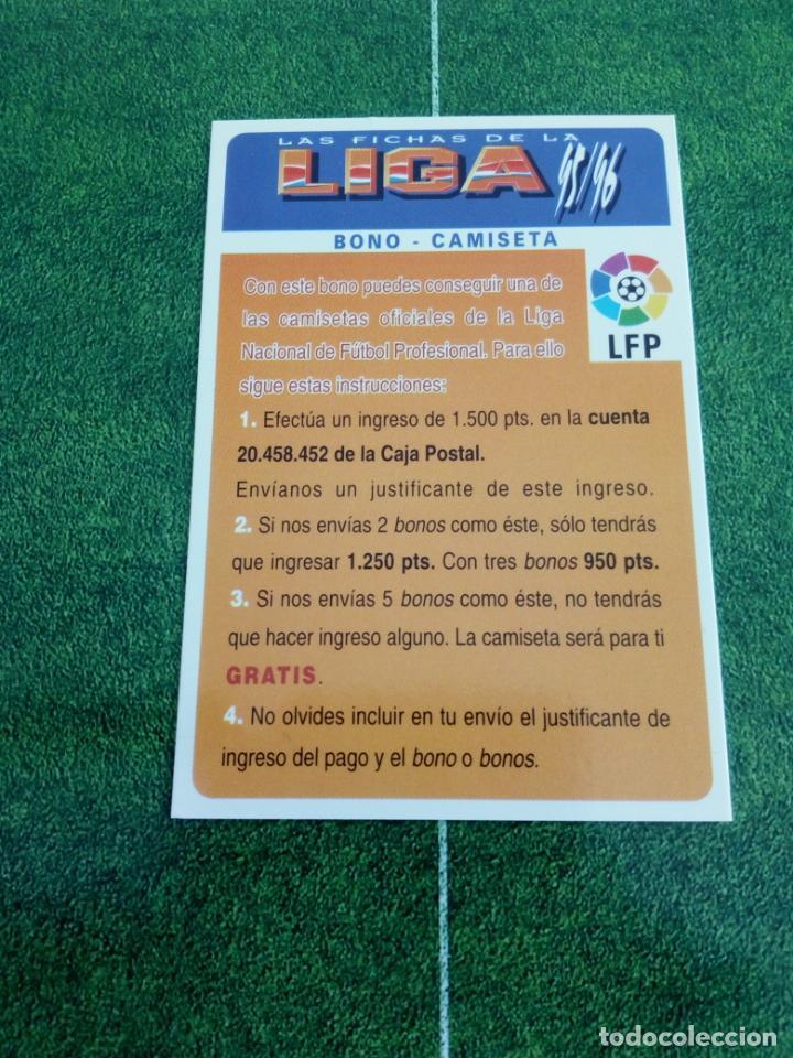 BONO CAMISETA CROMOS ALBUM MUNDICROMO FICHAS FUTBOL LIGA 1995 1996 95 96 (Coleccionismo Deportivo - Álbumes y Cromos de Deportes - Cromos de Fútbol)