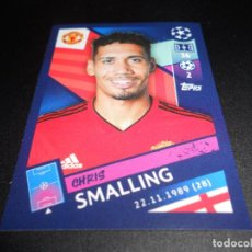 Cromos de Fútbol: 180 CHRIS SMALLING MANCHESTER UNITED CROMOS STICKERS UEFA CHAMPIONS LEAGUE TOPPS 18 19 2018 2019. Lote 136094686
