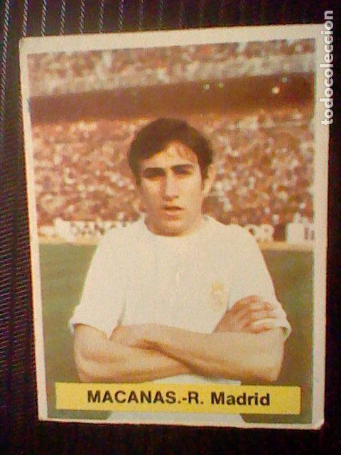 CROMO RECUPERADO ED FINI 1975 76 1976 75 REAL MADRID MACANAS DEP LEG MA * segunda mano