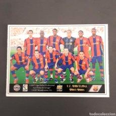 Cromos de Fútbol: (C-A05) MUNDICROMO FICHAS LIGA 2007 2008 / 07 08 - (FC BARCELONA) N°29 ÍNDICE Y PLANTILLA. Lote 136245393