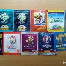 Cromos de Fútbol: LOTE 11 SOBRES SIN ABRIR MUNDIAL 2006 2010 WORLD CUP 2002 KOREA Y JAPON 02 EURO 2004 PORTUGAL 04 08. Lote 137130202