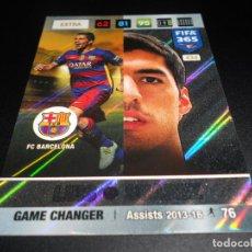 Cromos de Fútbol: 434 LUIS SUAREZ GAME CHANGER FC BARCELONA CARD CROMOS ADRENALYN XL FIFA 365 2016 2017 16 17. Lote 137172738