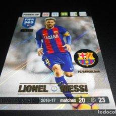 Cromos de Fútbol: UE122 LIONEL MESSI WINTER STAR FC BARCELONA CARD CROMOS ADRENALYN XL FIFA 365 2016 2017 16 17. Lote 137172990