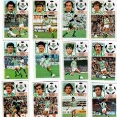 Cromos de Fútbol: LIGA 83/84. LOTE DE 15 CROMOS. REAL BETIS. EDICIONES ESTE. NUEVO BUEN ESTADO. VER FOTOS.. Lote 137485686