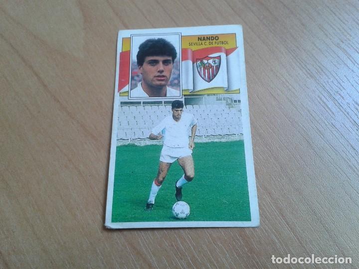 NANDO -- SEVILLA -- BAJA -- 90/91 -- ESTE -- NUNCA PEGADO (Coleccionismo Deportivo - Álbumes y Cromos de Deportes - Cromos de Fútbol)