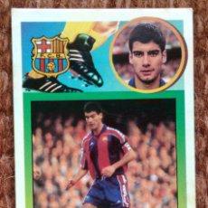 Cromos de Fútbol: GUARDIOLA - BARCELONA - 93 94 - ED. ESTE - CARTON - NUNCA PEGADO. Lote 138106994