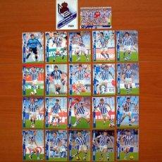 Cromos de Fútbol: REAL SOCIEDAD 2ª DIVISIÓN - LOTE DE 22 FICHAS DE LA LIGA 2007-2008, 07-08 - MUNDICROMO . Lote 138761694
