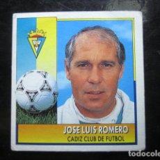 Cromos de Fútbol: JOSE LUIS ROMERO CADIZ COLOCA LIGA 92 93 ESTE 1992 1993 CROMO NUNCA PEGADO. Lote 138881038