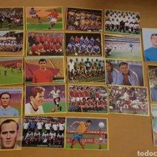 Cromos de Fútbol: LOTE DE 22 CROMOS FÚTBOL EN ACCIÓN DE DANONE. MUNDIAL DEL 1982. SIN PEGAR. Lote 139350092