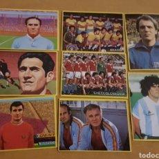 Cromos de Fútbol: LOTE DE 8 CROMOS FÚTBOL EN ACCIÓN DE DANONE. MUNDIAL 82. SIN PEGAR. Lote 139351000