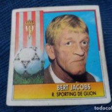 Cromos de Fútbol: 92/93 ESTE. POCA SEÑAL DE NUNCA PEGADO SPORTING DE GIJÓN BERT JACOBS. Lote 139724666