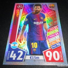 Cromos de Fútbol: 35 LIONEL MESSI FC BARCELONA CROMOS CARDS CHAMPIONS LEAGUE TOPPS ATTAX 17 18 2017 2018. Lote 140037773