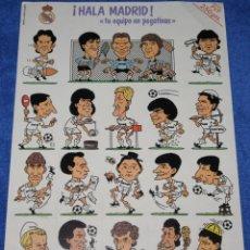 Cromos de Fútbol: ¡HALÁ MADRID! - TU EQUIPO EN PEGATINAS - PRODUCTO OFICIAL REAL MADRID (1988). Lote 140072690