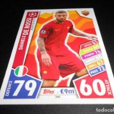 Cromos de Fútbol: 388 DANIELE DE ROSSI AS ROMA CROMOS CARDS CHAMPIONS LEAGUE TOPPS ATTAX 17 18 2017 2018. Lote 140397658