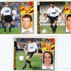 Cromos de Fútbol: ESTE 97-98 - LOTE DE 3 COLOCAS MUY DIFICILES CARBONI-MORIGI-ROMARIO (VENTANILLA). Lote 140762650