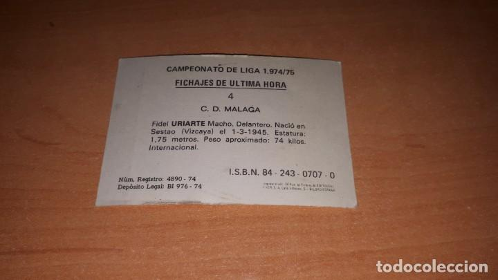 Cromos de Fútbol: Cromo Uriarte - Foto 2 - 140807546