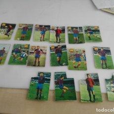 Cromos de Fútbol: LOTE DE CROMOS DE FUTBOL ANTIGUOS DEL BARCELONA . Lote 140857050