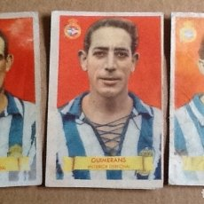 Cromos de Fútbol: DEPORTIVO DE LA CORUÑA, 3 CROMOS DE LA TEMPORADA 1949-1950, ÁLBUM CAMPEONES, BRUGUERA. Lote 55314952