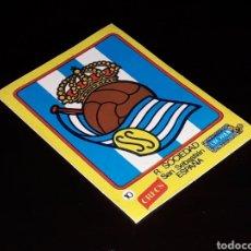 Cromos de Fútbol: ESCUDO FÚTBOL Nº 10 REAL SOCIEDAD, LOS GRANDES EQUIPOS DE EUROPA, CRECS CROPAN, ORIGINAL AÑOS 70.. Lote 141261390
