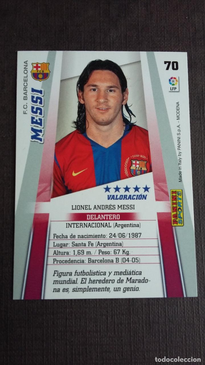 Cromos de Fútbol: MEGACRACKS 2008 2009 08 09 - PANINI - 70 MESSI - FC. BARCELONA - - Foto 2 - 173069048