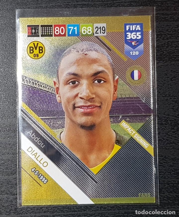 PANINI FIFA 365 2019 ADRENALYN XL IMPACT SIGNING Nº 120 ABDOU DIALLO